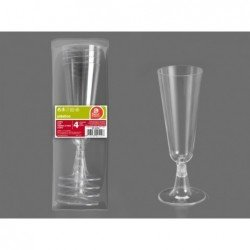 (4 UD.)COPA CAVA PIE TRANSP. 150 ML REUTILIZABLE(BP)J-251900 JBP