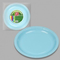 Platos Azul Bebe de Cartón Biodegradable Eco-Friendly de 20 cm (10)J-10636 JBP