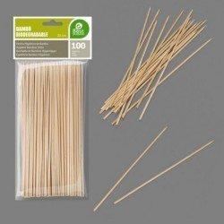 Pinchos de Bambú Higiénicos de 200 x 2 mm (100 ud)J-10434 JBP