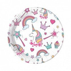 Platos Unicornio Magic Party de 23 cm (8)