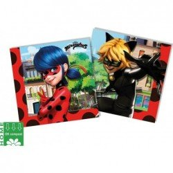 Servilletas Lady Bug Zag Miraculous Eco Biodegradables 33x33 (20)
