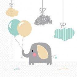 Servilletas Elefante Dulce Bebe Eco biodegradables (20)91907 Procos