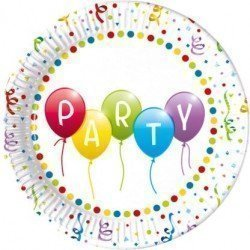 Platos Party Globos de Colores Eco-Friendly de 23cm (8)