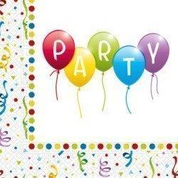 Servilletas Party Globos de Colores (20)