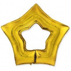 Globo Estrella Hueca Color oro de 78 cm Ultra