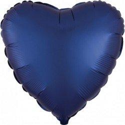 Globo Corazon color satin Azul Naval de 45cm
