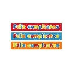 Guirnaldas Bandas de Feliz cumpleaños de 67 cm (2) colores Surtidos