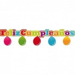 Guirnalda Feliz cumpleaños con Globos de 1,38 m aprox.