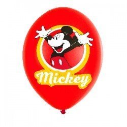 Globos latex Mickey Mouse 4 colores (6)