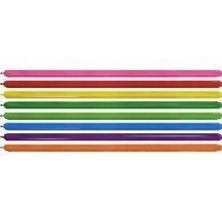 Globos Moldeables de (260) 5 cm x 15 cm Color Surtidos Efecto Metalico ( 50 ud)