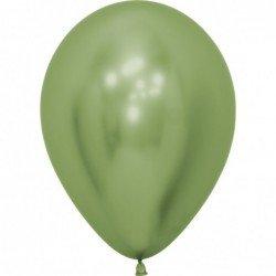 Globos látex Reflex Verde Lima de 30cm (12 ud)