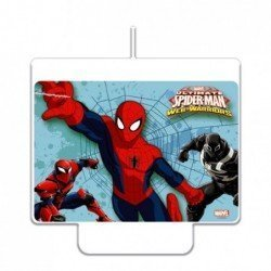 Vela spiderman de 9 x 7 cm decorativa