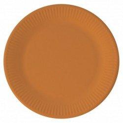 Platos de color naranja de 23 cm EcoFriendly Compostable (8)