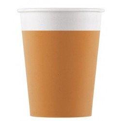 Vasos de Cartón color Naranja de 200 ml Eco-friendly Compostable (8)