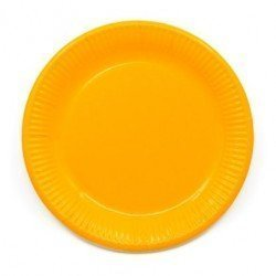 Platos de color Amarillo de 23 cm EcoFriendly Compostable (8)