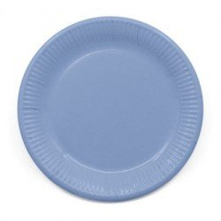 Platos de color Azul pastel 200 ml Eco-friendly Compostable (8) ul Pastel de 23 cm EcoFriendly Compostable (8)