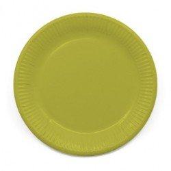Platos de color Verde Lima de 23 cm EcoFriendly Compostable (8)
