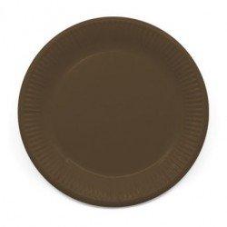 Platos de color Marrón de 23 cm EcoFriendly Compostable (8)