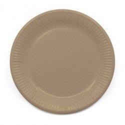 Platos de color Crema de 23 cm EcoFriendly Compostable (8)