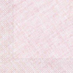 Servilletas grandes color Rosa de Triple Capa tacto textil Ecofriendly compostables (20)