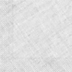 Servilletas grandes color Gris de Triple Capa tacto textil Ecofriendly compostables (20)