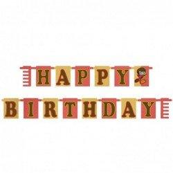 Banderin Happy birthday Harry potter comic de 1,6m