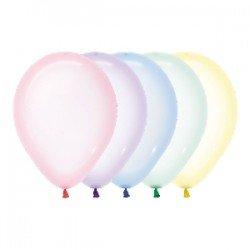 Globos Cristal Pastel Surtidos R12 de 30cm aprox. (50 UD)