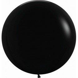 Globos Negro Solido R24 de 60 cm aprox (10 ud)