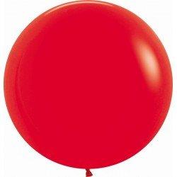 Globos R24 de 60 cm aprox Color Rojo solido (10 ud)