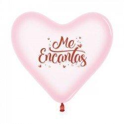 """Globos látex forma corazón """"Me Encantas"""" (12)"""