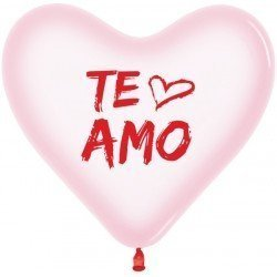 """Globos látex forma corazón """"Te Amo"""" (12)"""