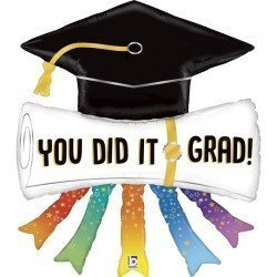 "Globo Diploma ""You did it grad"" de 111cm"