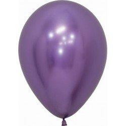Globos látex Reflex Violeta de 12.5cm (50 ud)