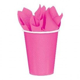 VASO 9oz 266 ml CARTON COLOR FUCSIA ( 8 ud)58015-103 Amscan
