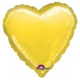 Globo Con Forma de Corazón de Aprox 45cm Color AMARILLO-8004902 Anagram