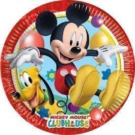 Platos (8) de 23cm Club disney Mickey