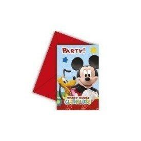 Invitaciones (6) Club disney Mickey (incluye sobre)