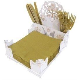 Servilletero / Cubertero de carton Boda Rustika