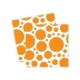 Servilletas (20) 33cm Puntos o Lunares Naranja.