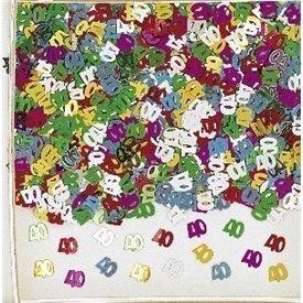 Confeti num. 40 multi. 14g met.9900462 Amscan