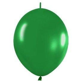 Globos (LOLR12) de 30cm aprx Esp. Arcos y TorresColor Verde Selva Efecto Metalico-Cristal (25 ud)LOL12-532 Sempertex