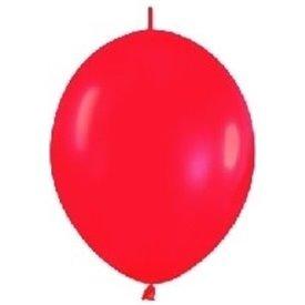 Globos (LOLR5) de 15 cm aprx Esp. Arcos y Torres Color Rojo Solido (50 ud)