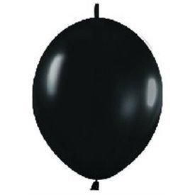 Globos (LOLR5) de 15 cm aprx Esp. Arcos y Torres Color Negro Efecto Metalico-Cristal (50 ud)