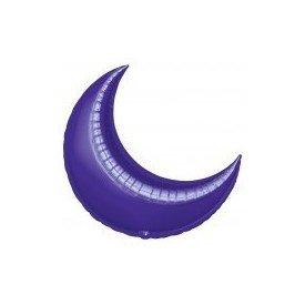 Globo Forma Luna de 89 cm Aprox. Color MORADO (BP)