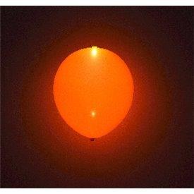 Globos de látex con Luz Led Color Naranja Solido de aprox. 25cm. (5 ud)