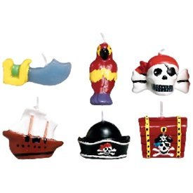 Velas mini-set (6) Piratas179877 Amscan