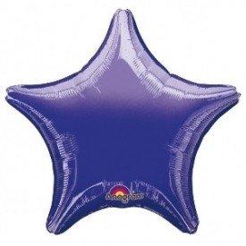 Globo con palo de 10 cm aprox Forma ESTRELLA MORADO (BP)