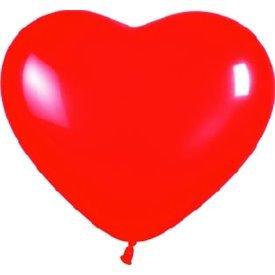 Globos de látex con forma de corazón Color Rojo Solido de aprox. 30cm. (50 ud)