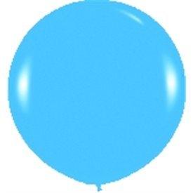 Globos (R-36)  de 90 cm aprox Color Azul Solido (10 ud)
