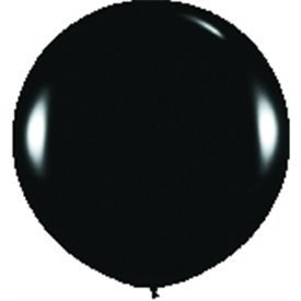 Globos (R-36)  de 90 cm aprox Color Negro Solido (10 ud)R36-080 Sempertex